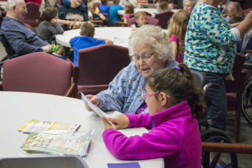 Making Intergenerational Connections with Oshkosh Students